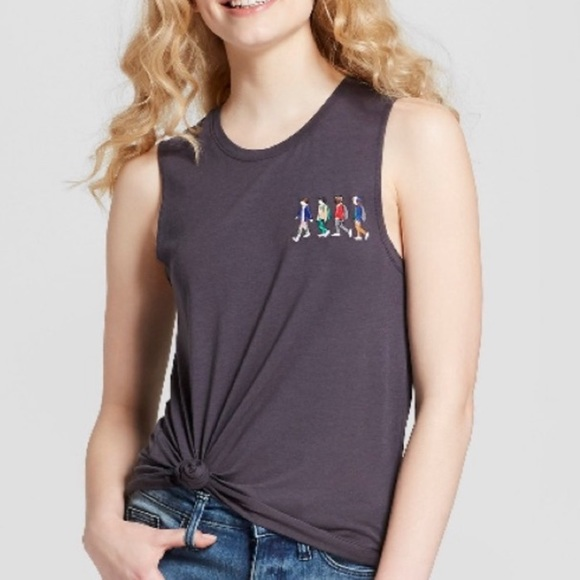 Netflix Stranger Things Embroidered Sleeveless Top